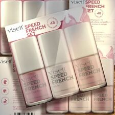 Visett Speed French Nails Manicure Polish Set 3x10ml Nagellacke schnelltrocknend