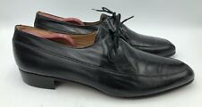 Giovane Vintage Mens Black Leather Oxford Dress Shoes Size 10