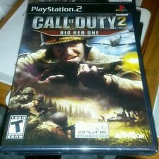 CALL OF DUTY 2 BIG RED ONE BLACK LABEL PS2 GAME SONY YFOLD FACTORY SEALED NEW