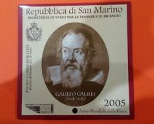 2 EURO COMMEMORATIVI REPUBBLICA SAN MARINO 2005 GALILEO GALILEI FDC FOLDER RARA