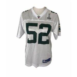 Boys size large Reebok Green Bay Clay Matthews white Jersey shirt