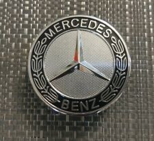 Mercedes Benz Bonnet Badge Black Emblem AMG C, E, S Class C180 C200 57mm