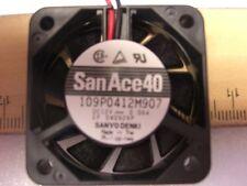 Server Fan,  SanAce40,  109P0412M907,  40x40x10mm, Square Fan, Sanyo Denki