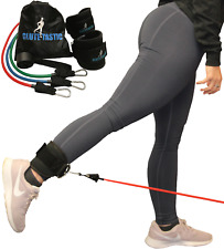 Glute-Tastic - Ankle Kickback Strap w/ Resistance Bands for Butt & Hip Exercises
