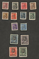 14 pcs 1945 STAMP GERMANY Overprinted Ceskoslovensko Pravda Vitezi Coat of Arms