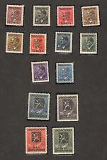 14 pcs 1945 STAMP GERMANY Overprinted Ceskoslovensko Pravda Vitezi Coat of Arms