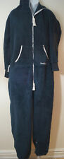 ONEPIECE Navy Blue Branded Hooded Long Sleeve Loungewear Jumpsuit Sz:M