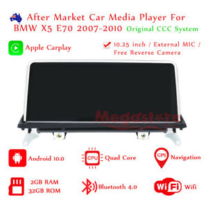 "10.25"" Android 10.0 Apple CarPlay Head Unit CAR GPS For BMW X5 E70 2007-2010 CCC"