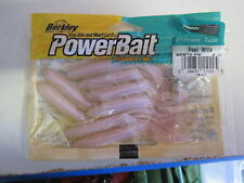 "Berkley Powerbait Power Tubes 4"" PEARL WHITE  NIP"