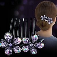 Ladies Flower Hair Clips Comb Slide Hairpins Hair Grip Clamps Pins Accessories