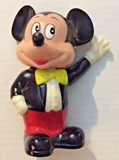 """Suited Tux Mickey Mouse Still Coin Bank Bust Official Disney Figure Plastic 6"""""""