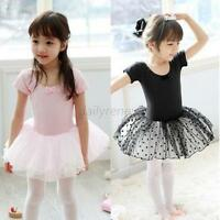 Girls Kids Dancewear Leotard Ballet Tutu Skate Costume Dance Skirt Dress 3-7 Y