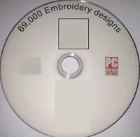 69000 EMBROIDERY DESIGNS BROTHER INC DISNEY  PES HUS CD DVD FREE P & P 026