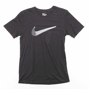 NIKE  Black Logo Short Sleeve T-Shirt Mens S