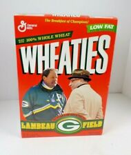 VTG Green Bay Packers Wheaties Cereal Box Full Unopened 24 oz Lombardi Holmgren
