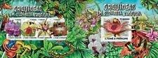 Sao Tome and Principe Sao Tome 2015 orchids flowers klb+s/s MNH