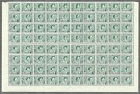 Australia 1965 QEII 3d Dull Blue-Green Helicon Paper Lower Pane 80 Stamps 8-10