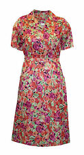 Women's Short Sleeve Floral Tea Dresses