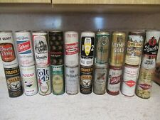 Assorted vintage 16 oz beer cans