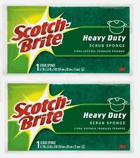 "2pk~Scotch-Brite 6.1"" SCRUB SPONGE For Household Heavy Duty Reusable Kitchen 455"