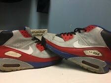 Nike Air Max 90 Ultra Superfly HTM Tinker Black White Grey Blue Red Sz 12