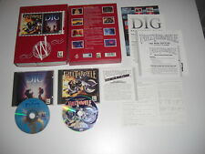 Full Throttle + la excavacion Doble Pack de PC CD ROM LucasArts Etiqueta Blanca Caja Grande