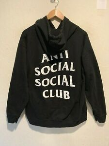 Anti-Social Social Club Men's Pullover Hoodie Sweatshirt Size LARGE Black
