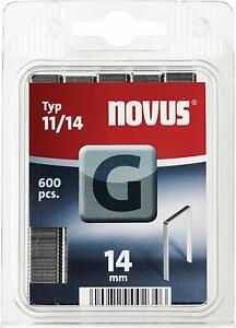 Novus Flachdrahtklammern 14 mm, für Hammertacker, 600 Stk. vom Typ G 11/14