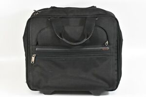 TUMI 26102D4 Wheeled Rolling Briefcase Computer Bag carry on nylon black