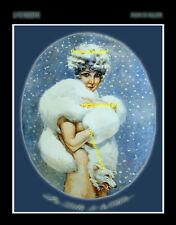 1924 BLUE BELLE w/ White Fox risque La Vie Parisienne 8x10 Milliere Art print