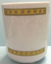 PLASTIC WHITE & GOLD BATHROOM TUMBLER