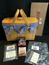 New Longaberger 1998 Sweetheart Cherished Memories Basket Combo Complete Set 6pc