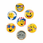 Patriotic Emoji Mini Buttons - Jewelry - 48 Pieces