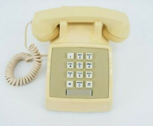 Western Electric 83138 Yellow Vintage Old Dial Phone Z2500MMGA 2500