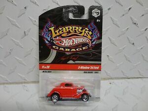 Hot Wheels Larry's Garage #11 Red 3-Window '34   w/Real Riders