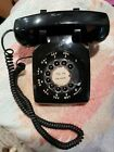 VINTAGE 1950s CLASSIC ROTARY DIAL BELL SYSTEMS C/D 500 BLACK BAKELITE DESK PHONE