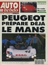 AUTO HEBDO n°759 du 2 Janvier 1991 MONTE CARLO MASERATI CHUBASCO
