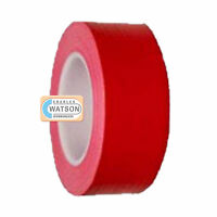 RED 50mm x 50m Gaffa Gaffer Cloth Tape Duck Duct Waterproof Heavy Duty Strong