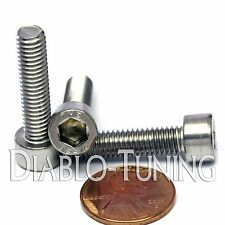 M6 x 25mm - Qty 10 - DIN 912 SOCKET HEAD Cap Screws - Stainless Steel A2 / 18-8