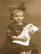 CANVAS ART ANTIQUE DOLL GIRL PORTRAIT SEPIA PHOTO CHILDHOOD VINTAGE PRINT LARGE