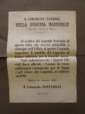 Grida Disposizioni Divise Uniformi Guardia Nazionale Fontanelli Modena 1859