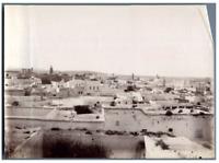 Tunisie, Ville tunisienne  vintage albumen print Tirage albuminé  12x17  C