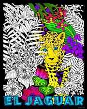 El Jaguar - Large 16x20 Inch Fuzzy Velvet Coloring Poster