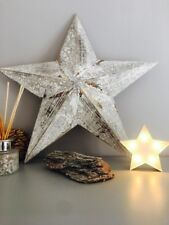 54cm Large Wooden Barn Star Twine For Wall Hanging Rustic Traditional Style
