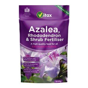 VITAX Azalea, Rhododendron & Shrub Fertiliser - 0.9kg Resealable Pouch