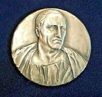 """Medaglia in argento 986% CICERONE """"COLLOQIUM TULLIANUM """" 1991 Inc. Soccorsi IPZS"""
