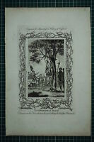 c1778 ANTIQUE PRINT ~ GOVERNOR OF MEAUX EXECUTED ON TREE WHERE HANGED PRISONERS