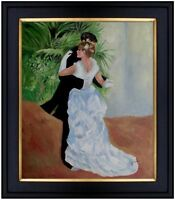 Framed, Hand Painted Oil Painting, Pierre Renoir Dance in the City Repro 20x24in