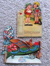 Vintage Valentine Cards (2), Printed In Germany