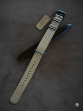 22 mm Cinturino nato artigianale cuoio naturale mtstraps Handmade Watch Strap